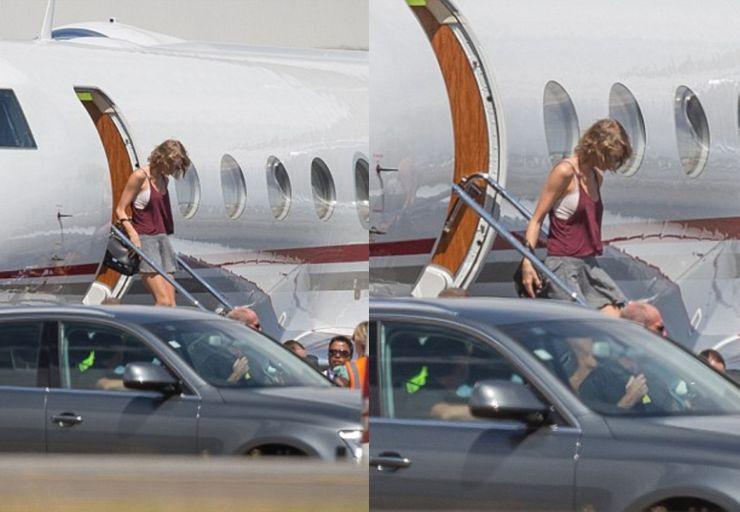 10 عکس از سلبرتی ها در حال پیاده شدن از هواپیمای شخصی شان(که در حالتی غیر منتظرانه ازشون گرفته شده!)
